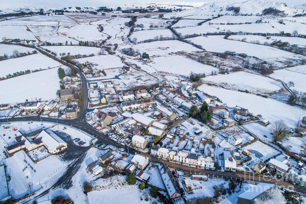 Photograph - Pontrhydfendigaid Village, Wales, In The Snow by Keith Morris