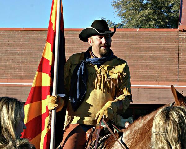 Photograph - Pony Express Flag Bearer by Matalyn Gardner
