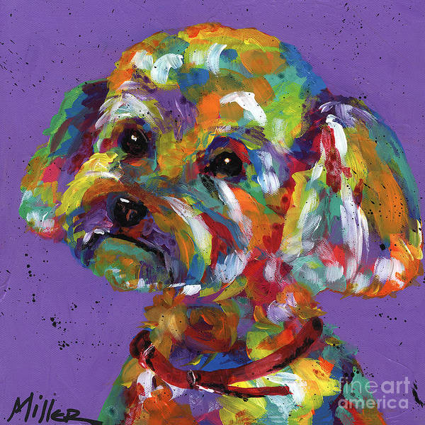 Wall Art - Painting - Poodle by Tracy Miller