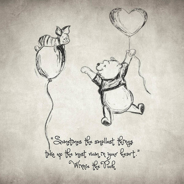 Drawing - Pooh Quote by Zapista Zapista