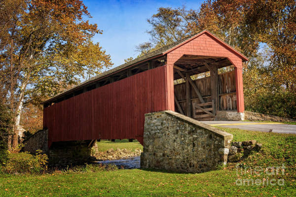 Photograph - Pool Forge Covered Bridge  by Debra Fedchin