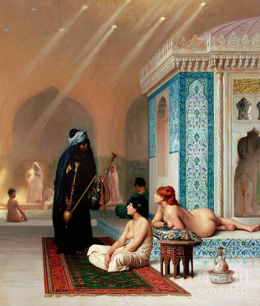 Wall Art - Painting - Pool In A Harem By Jean Leon Gerome  by Jean Leon Gerome