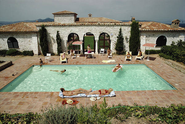 St Tropez Photograph - Pool In St Tropez by Slim Aarons