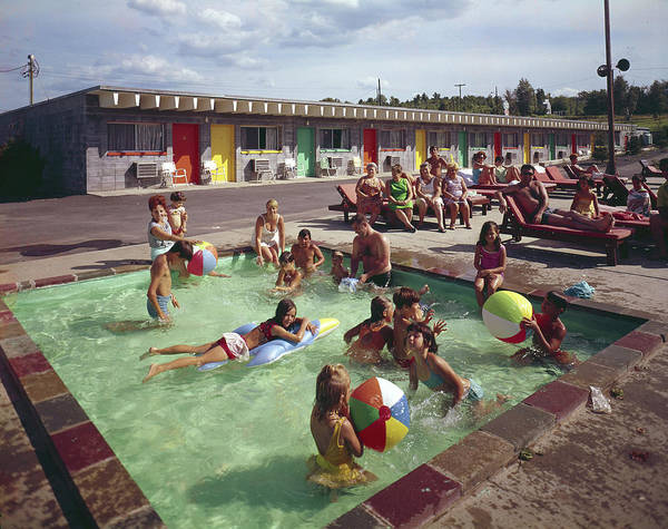 Large Photograph - Poolside Fun At Arca Manor by Aladdin Color Inc