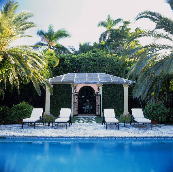 Palm Beach Photograph - Poolside, Palm Beach, Florida, Usa by Richard Felber