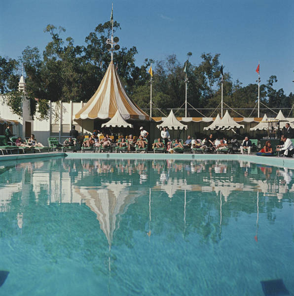 Usa Photograph - Poolside Reflections by Slim Aarons