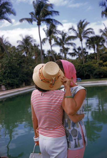 Hat Photograph - Poolside Secrets by Slim Aarons