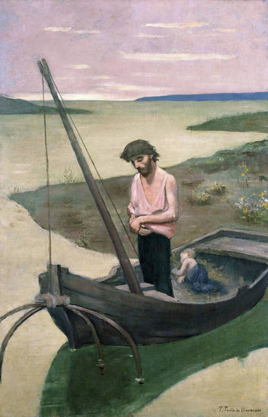Wall Art - Painting - Poor Fisherman - Digital Remastered Edition by Pierre Puvis de Chavannes