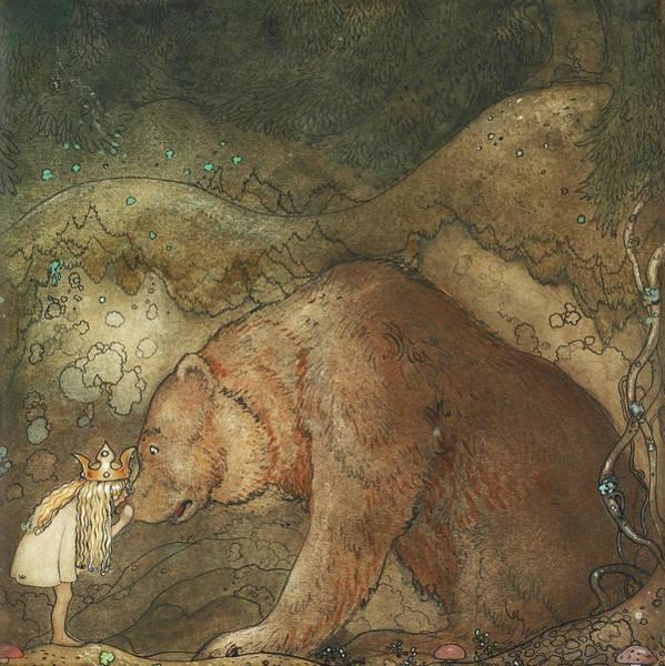 Wall Art - Painting - Poor Little Bear, 1912 by John Bauer