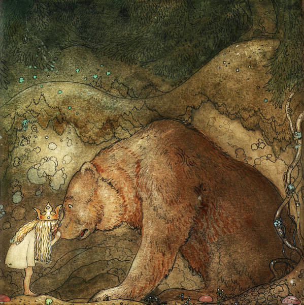 Wall Art - Painting - Poor Little Bear, Among Gnomes And Trolls, 1912 by John Bauer