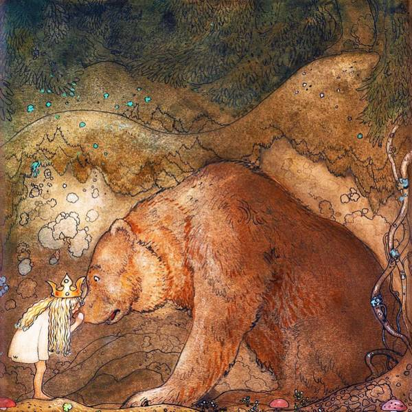 Wall Art - Painting - Poor Little Bear - Digital Remastered Edition by John Bauer
