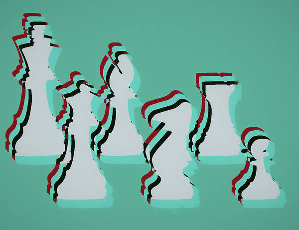 Mixed Media - Pop Art Chess by Dan Sproul