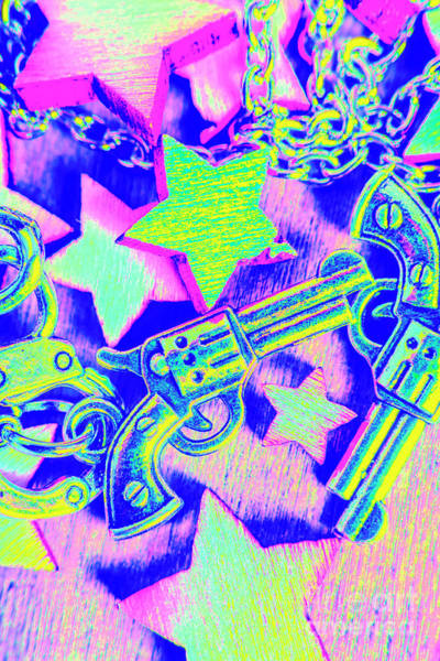 Revolver Photograph - Pop Art Police by Jorgo Photography - Wall Art Gallery