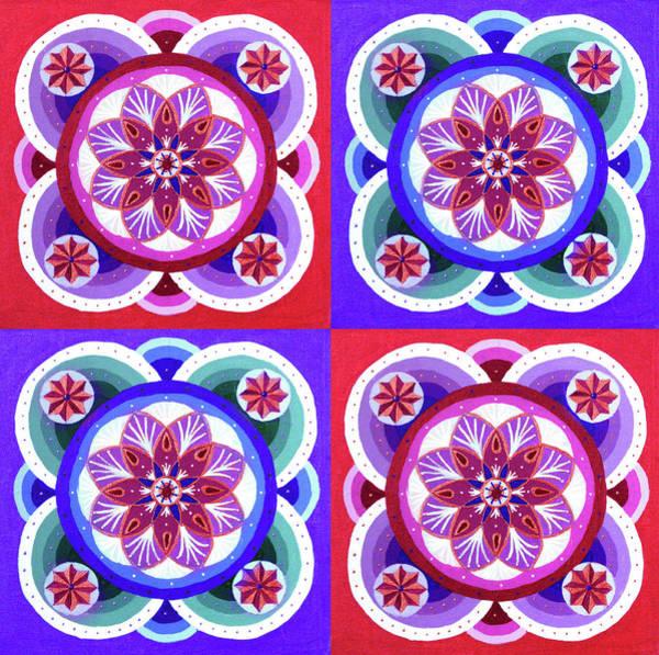 Painting - Pop Art Tile Mandala by Astrid Haszprunarova
