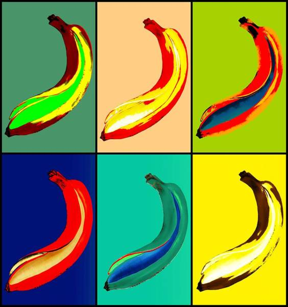 Wall Art - Painting - Pop Banana by ArtMarketJapan