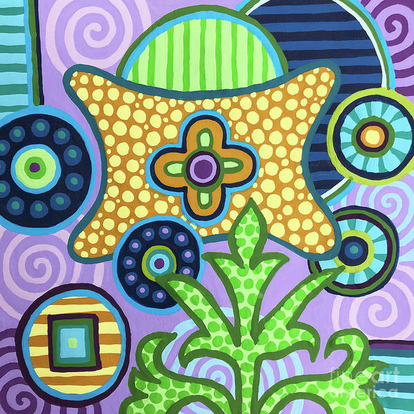 Painting - Pop Botanical 2 by Amy E Fraser