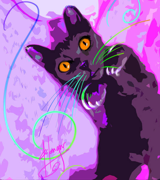 Pop Cat Angel Art Print