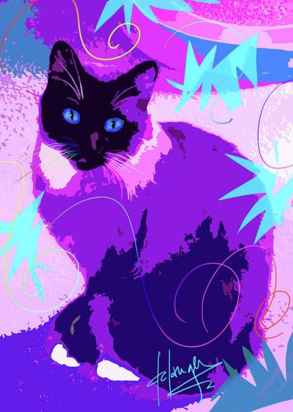 Pop Cat Cocoa Art Print