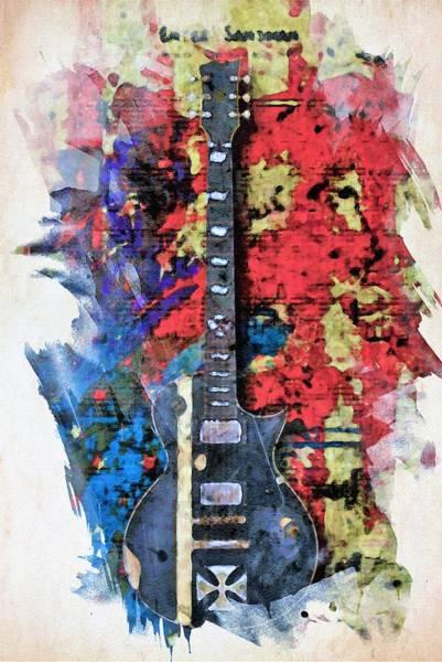 Wall Art - Painting - Pop Guitar by ArtMarketJapan