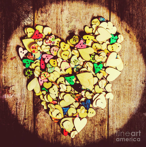 Timbers Photograph - Pop Heart Togetherness by Jorgo Photography - Wall Art Gallery