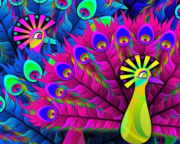 Wall Art - Painting - Pop Peacock by ArtMarketJapan