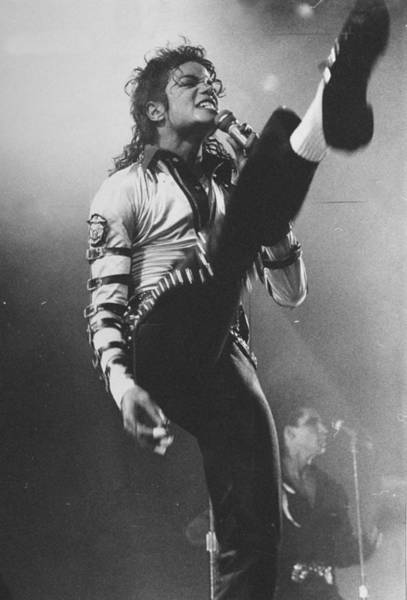 Vertical Photograph - Pop Star Michael Jackson Gets His Kicks by New York Daily News Archive