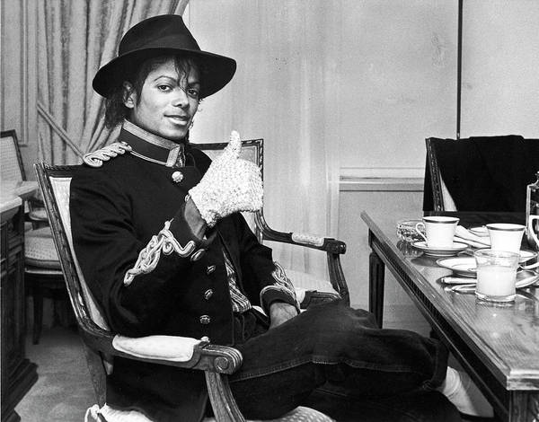 Photograph - Pop Star Singer Michael Jackson Giving by David Mcgough