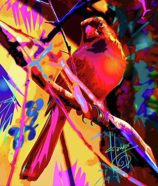 Painting - pOpBird Crimmy by DC Langer