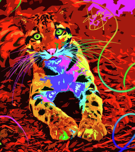 Painting - pOpCat Baby Leo by DC Langer