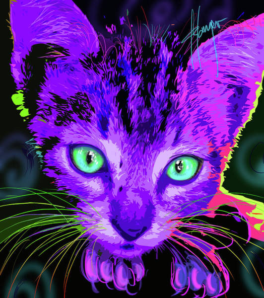 Painting - pOpCat Baby Royce by DC Langer