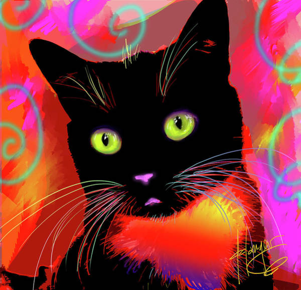 Painting - pOpCat Bootsie by DC Langer