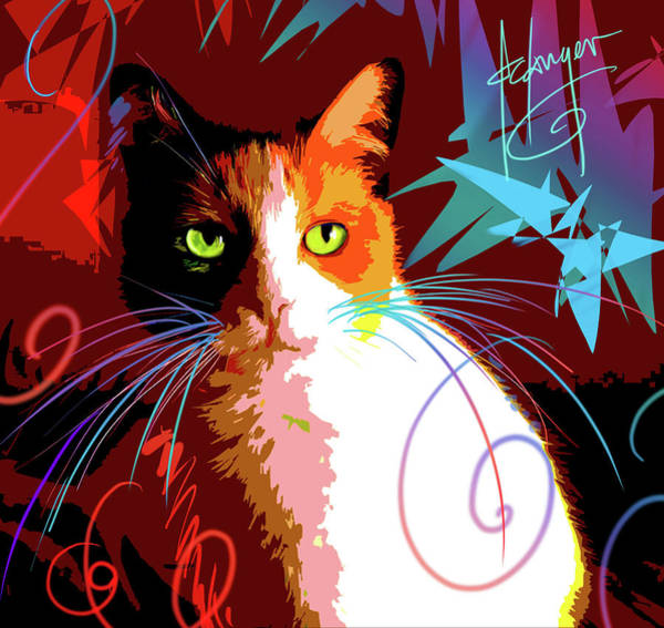 Painting - pOpCat Chubby by DC Langer
