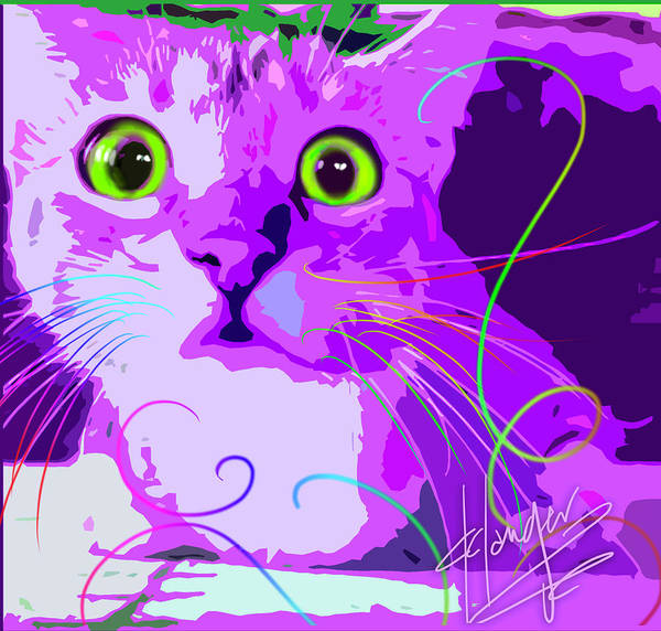Painting - pOpCat Crazy Harry by DC Langer