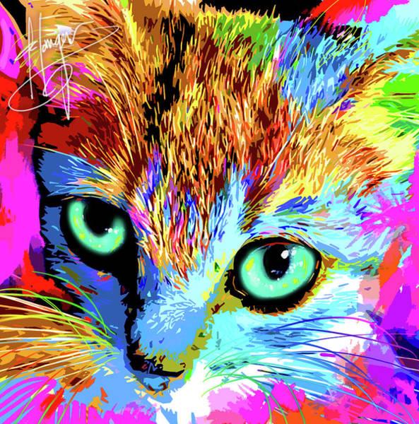 Painting - pOpCat Estrella by DC Langer