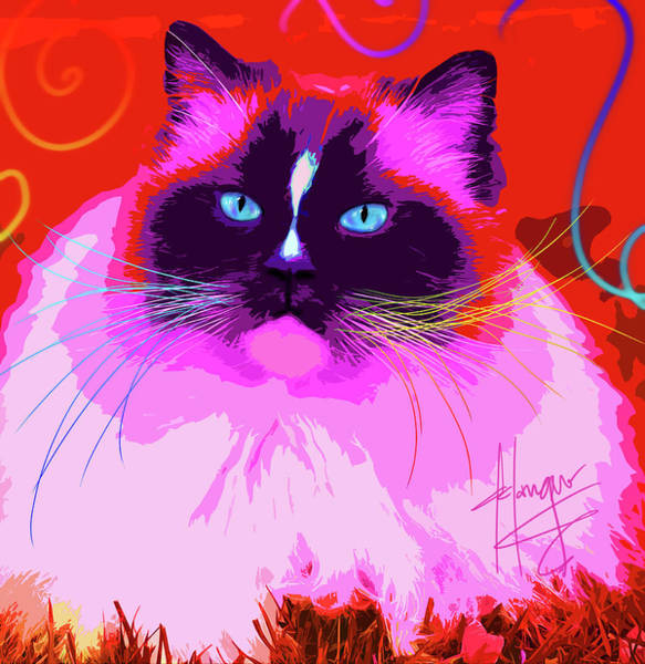 Painting - pOpCat Flump by DC Langer