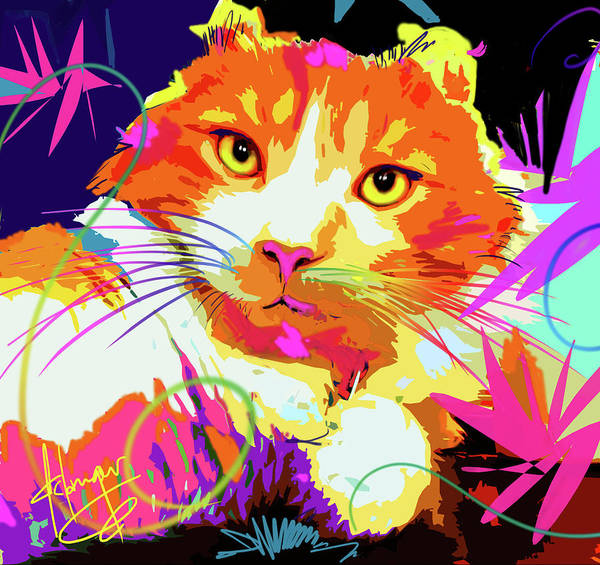 Painting - pOpCat Freeway, rescued from the freeway by DC Langer
