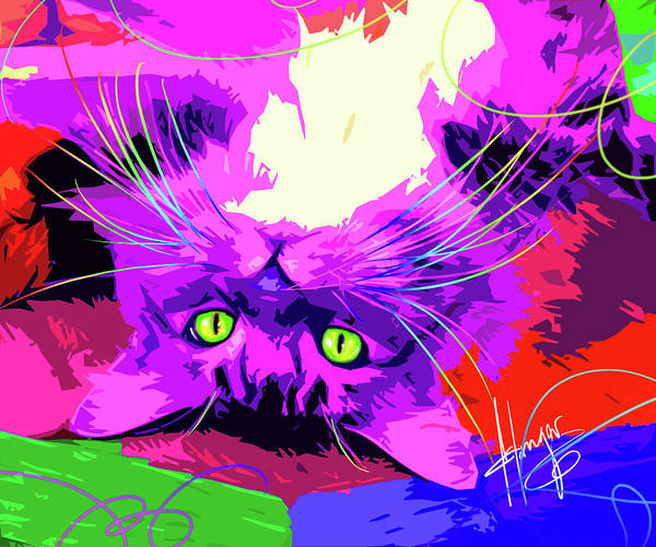 Painting - pOpCat Garth by DC Langer