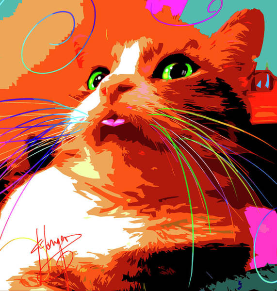 Painting - pOpCat Giselle by DC Langer