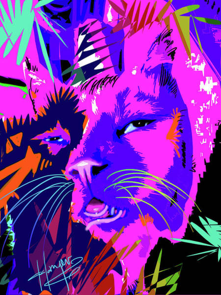 Painting - pOpCat Huey, too much catnip by DC Langer