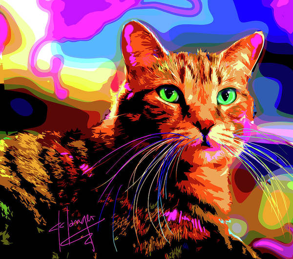 Painting - pOpCat Iggy WunderCat by DC Langer