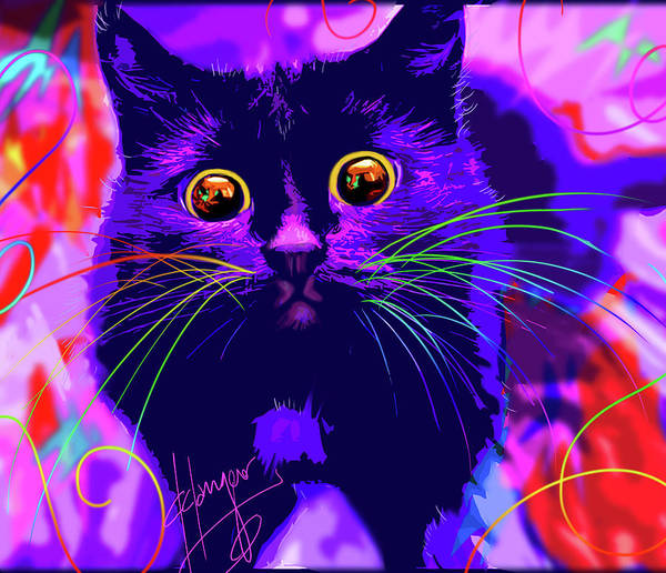 Painting - pOpCat Inky by DC Langer