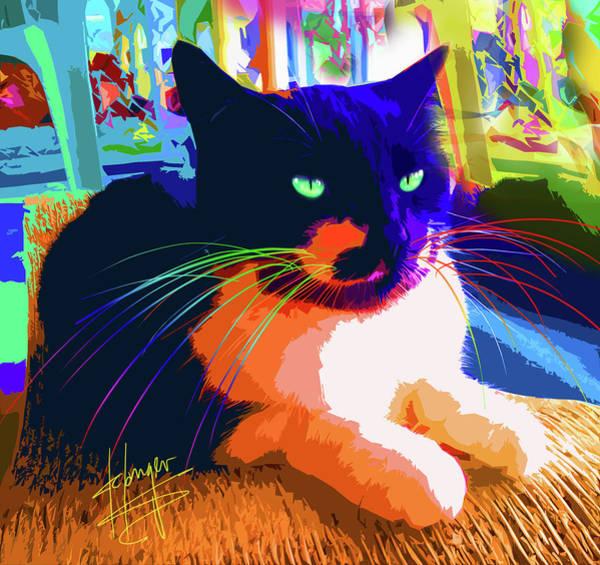 Painting - pOpCat Jasmine by DC Langer