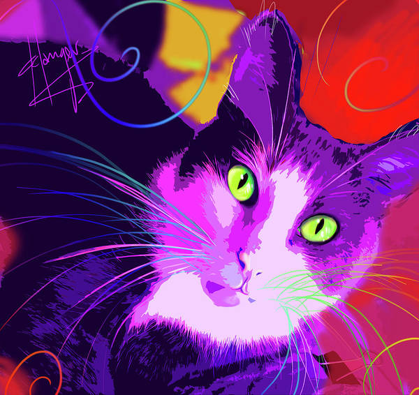 Painting - pOpCat KItty Poppins by DC Langer