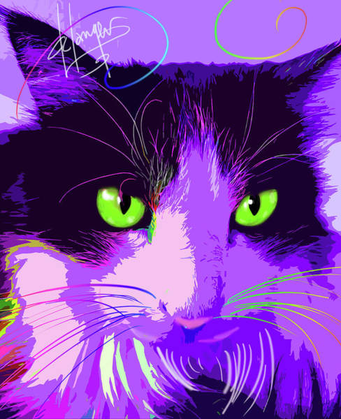 Painting - pOpCat Lacy by DC Langer