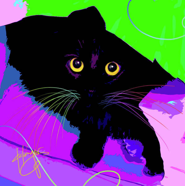 Painting - pOpCat Lenny Clark by DC Langer