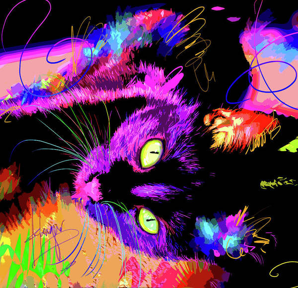 Painting - pOpCat Lucy by DC Langer