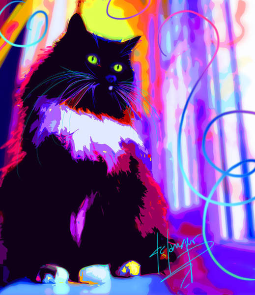 Painting - pOpCat Mambo by DC Langer