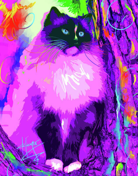 Painting - pOpCat Master Charles by DC Langer