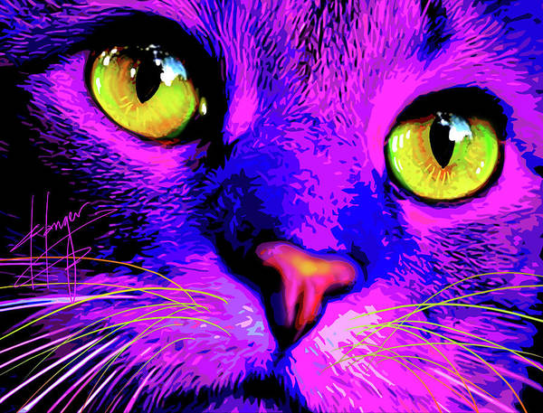 Painting - pOpCat Monet by DC Langer