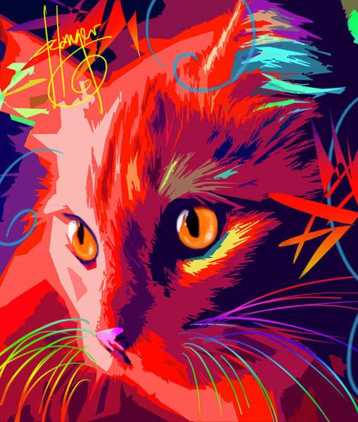 Painting - pOpCat OK- Orange Kitty by DC Langer